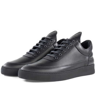 Filling Pieces Low Top Plain Matt Nappa 'All Black' productafbeelding