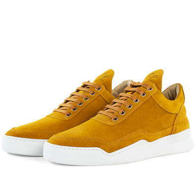 Filling Pieces Low Top Ghost Suede 'Mustard' productafbeelding