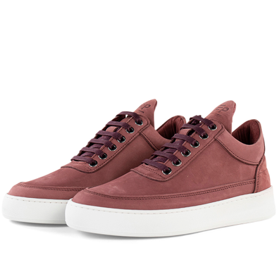 Filling Pieces Low Top Plain Lane Nubuck 'Maroon' productafbeelding