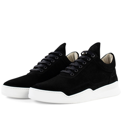 Filling Pieces Low Top Ghost Suede 'Black' productafbeelding