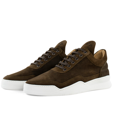 Filling Pieces Low Top Ghost Suede 'Dark Brown' productafbeelding