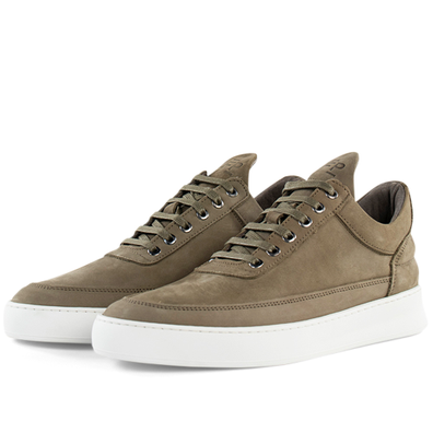 Filling Pieces Low Top Plain Lane Nubuck 'Military Green' productafbeelding