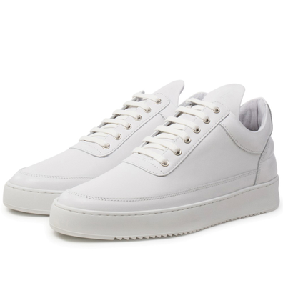 Low Top Ripple Lane Nappa 'All White' productafbeelding