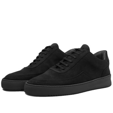 Filling Pieces Low Mondo Plain Nardo Nubuck 'All Black' productafbeelding