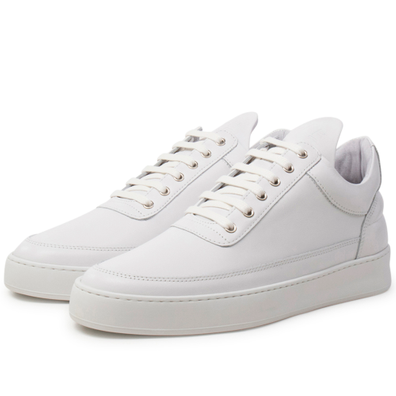 Filling Pieces Low Top Plain Lane Nappa 'All White' productafbeelding