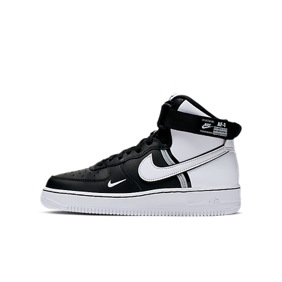 Nike Air Force 1 High Lv8 2 (GS) Black/ White-Wolf Grey-White productafbeelding