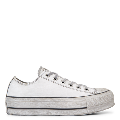 Chuck Taylor All Star Leather Smoke Platform Low Top productafbeelding