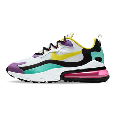 Nike Air Max 270 React (Geometric Art) White / Dynamic Yellow / Black productafbeelding