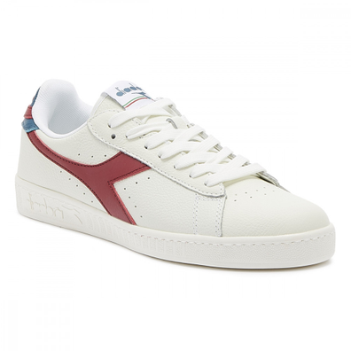 Diadora Game L Low Mens White / Red / Blue Trainers productafbeelding
