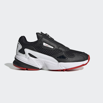 adidas Falcon Zip W Core Black/ Ftw White/ Red productafbeelding