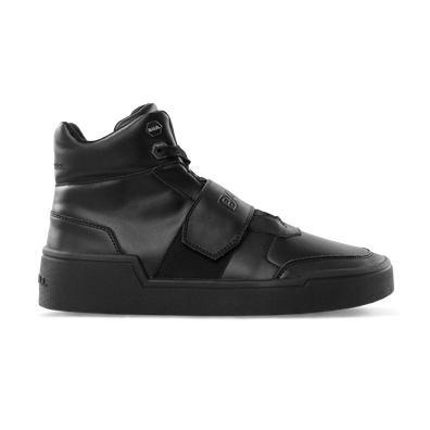 BALR. Leather Big Strap Sneakers High Black productafbeelding