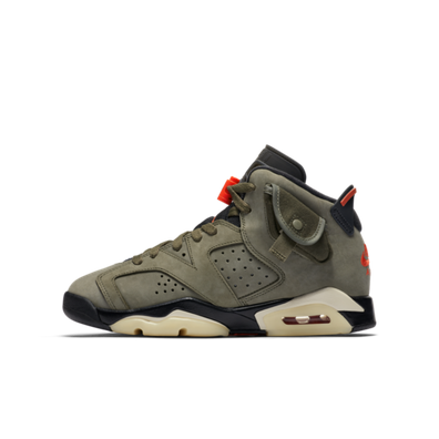 Travis Scott X Air Jordan 6 GS 'Medium Olive' productafbeelding