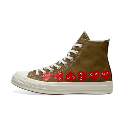 Comme Des Garcons X Converse Chuck 70 High 'Green' productafbeelding