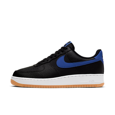 Nike Air force 1 '07 2 (Black / Game Royal - White - Gum Medium Brown productafbeelding