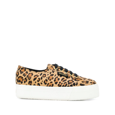 Superga leopard-print chunky sole productafbeelding