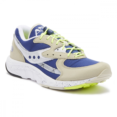 Saucony Aya Mens Grey / Blue Trainers productafbeelding