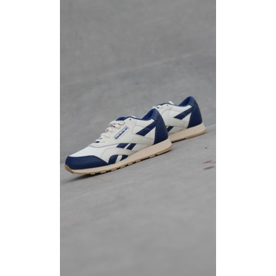 Reebok Cl nylon toa white/dblue k productafbeelding