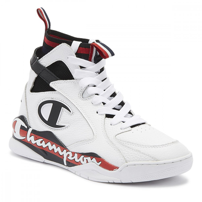 Champion Zone 93 High Mens White Trainers productafbeelding