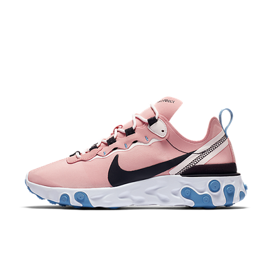 Nike Wmns React Element 55 (Coral Stardust / Oil Grey - Light Soft Pin productafbeelding