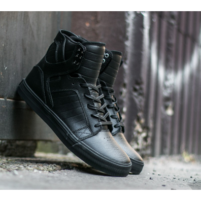 Supra Skytop Black/ Black-Red productafbeelding