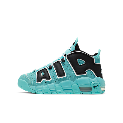NIKE Air More Uptempo (GS) hell aqua/schwarz/weiß productafbeelding