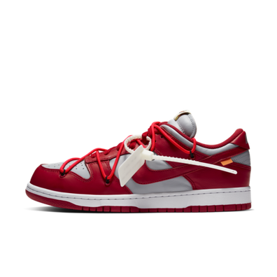 Off White X Nike Dunk Low 'Red' - SNKRS DAY Exclusive Access productafbeelding