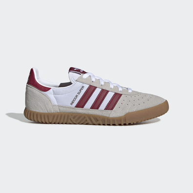 adidas Indoor Super (Ftwr White / Collegiate Burgundy / Gum) productafbeelding
