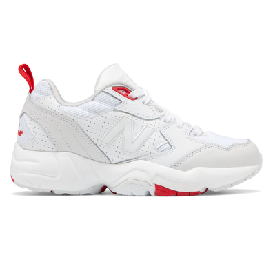 New Balance 708 Womens White / Grey / Red Trainers productafbeelding