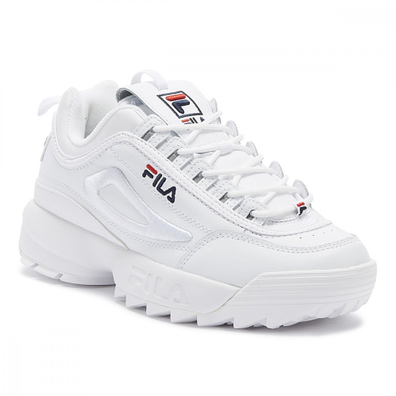 Fila Disruptor II 3D Embroider Womens White Trainers productafbeelding