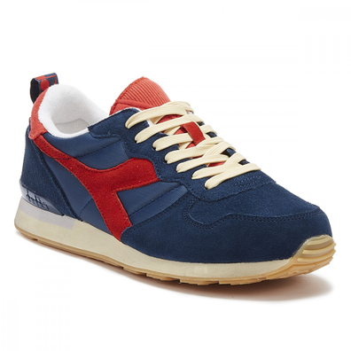 Diadora Camaro Mens Denim / Red Trainers productafbeelding
