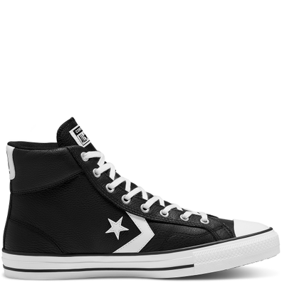 Unisex Leather Star Player High Top productafbeelding