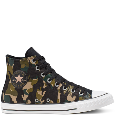 Unisex Converse Chuck Taylor All Star Wordmark And Camo Print High Top productafbeelding