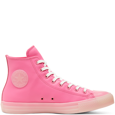 Unisex Neon Leather Chuck Taylor All Star High Top productafbeelding