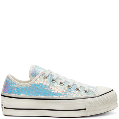 Womens Mini Sequins Chuck Taylor All Star Platform Low Top productafbeelding