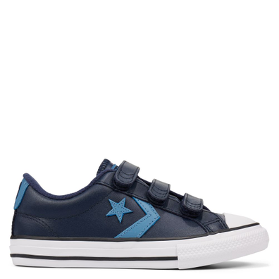 Big Kids Leather Hook and Loop Star Player Low Top productafbeelding