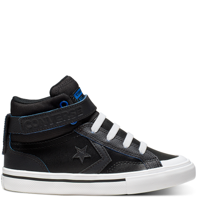 Big Kids Two-Tone Leather Pro Blaze Strap High Top productafbeelding