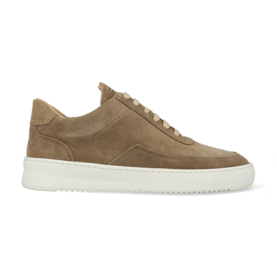 Filling Pieces Low Mondo Ripple Nardo Suede Off White productafbeelding