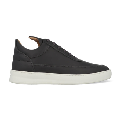 Filling Pieces Low Top Plain Matt Nappa Antracite productafbeelding