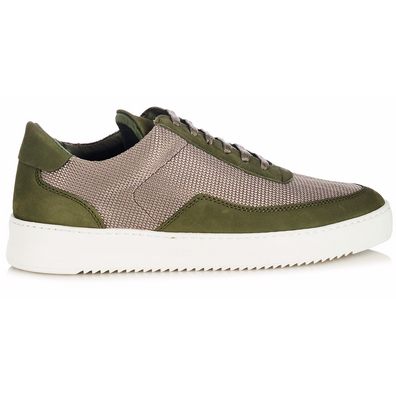 Filling Pieces Low Mondo Ripple Nardo Mesh Army Green productafbeelding