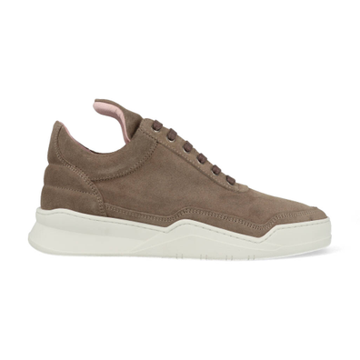 Filling Pieces Low Top Ghost Suede Taupe productafbeelding