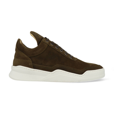 Filling Pieces Low Top Ghost Suede Dark Brown productafbeelding
