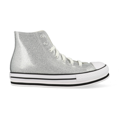 Converse All Stars Chuck Taylor Platform 666400C Zilver / Wit productafbeelding