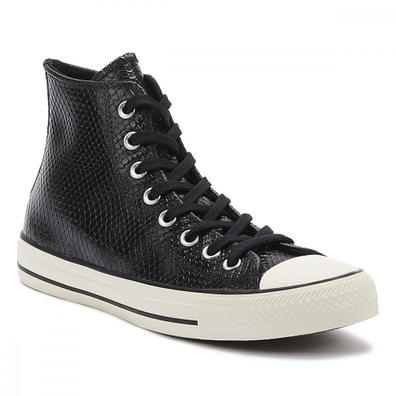 Converse Chuck Taylor All Star Snake Womens Black / White Hi Trainers productafbeelding