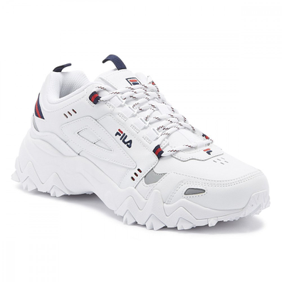 Fila Oakmont Trail Mens White / Navy / Red Trainers productafbeelding