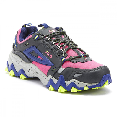 Fila Oakmont Trail Womens Pink Glo / Blue Trainers productafbeelding