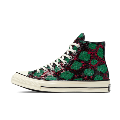 Converse Chuck Taylor Sequin 'Green/Red' productafbeelding