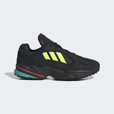adidas Yung-1 Trail (Core Black / Solar Yellow / Hi Res Aqua) productafbeelding