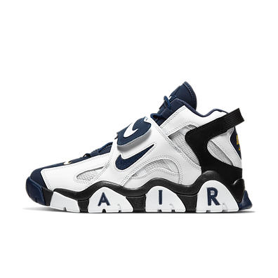 Nike Air Barrage Mid (White / Midnight Navy - Black - Laser Orange) productafbeelding