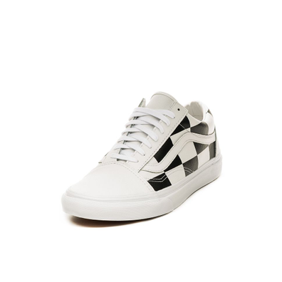 Vans Old Skool *Leather Check* (True White / Black) productafbeelding