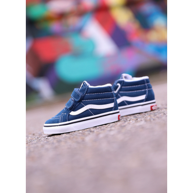 Vans Sk8-mid Reissue Navy/White TS productafbeelding